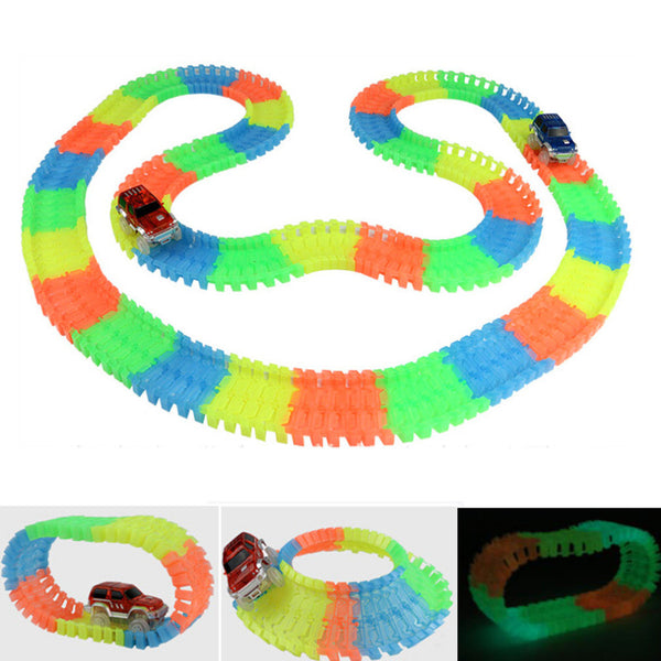 Glow-in-the-Dark Race Track + LED Car - HappySatchels