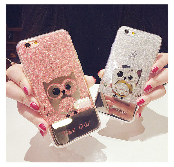 Shining Owl Bling iPhone Case