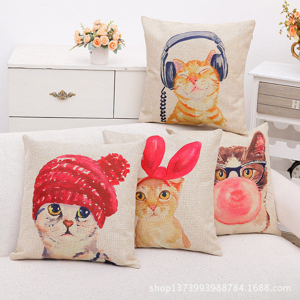 Lovely Cat Cushion Covers - HappySatchels
