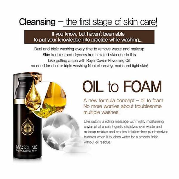 MAXCLINIC™ Royal Caviar Oil Foam - LilyVanity