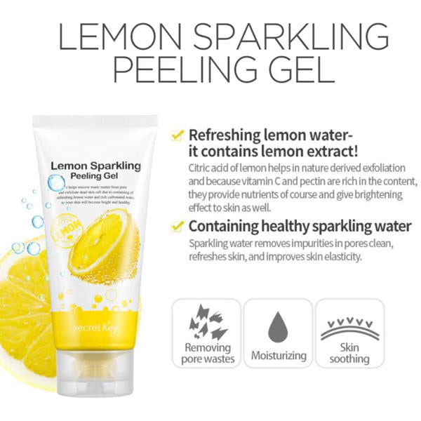SECRET KEY™ Lemon Sparkling Peeling Gel - LilyVanity
