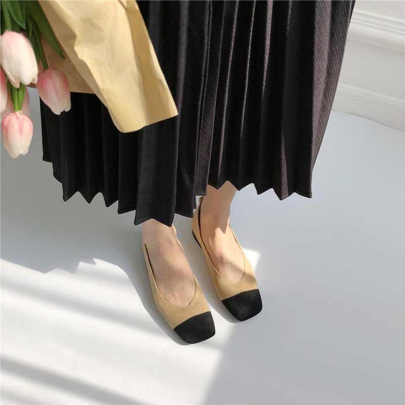 SUNDAY STAPLES™ Coco Flats in Nude - LilyVanity