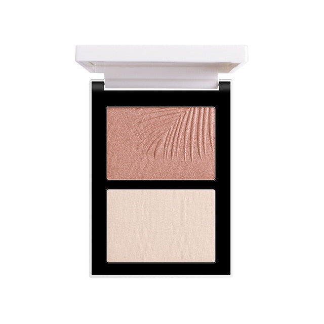 FOCALLURE™ Double Head 3D Bronzer Highlighter - LilyVanity