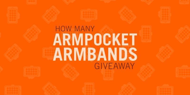 HOW MANY ARMPOCKET ARMBANDS – GIVEAWAY!