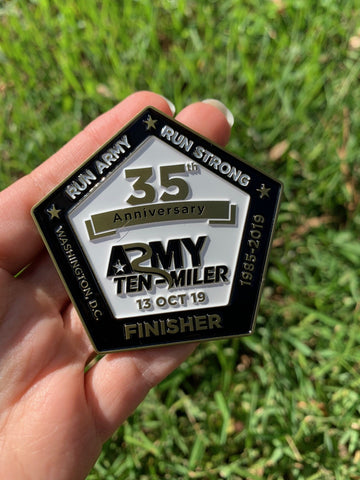 Army 10 Miler Finisher Coin