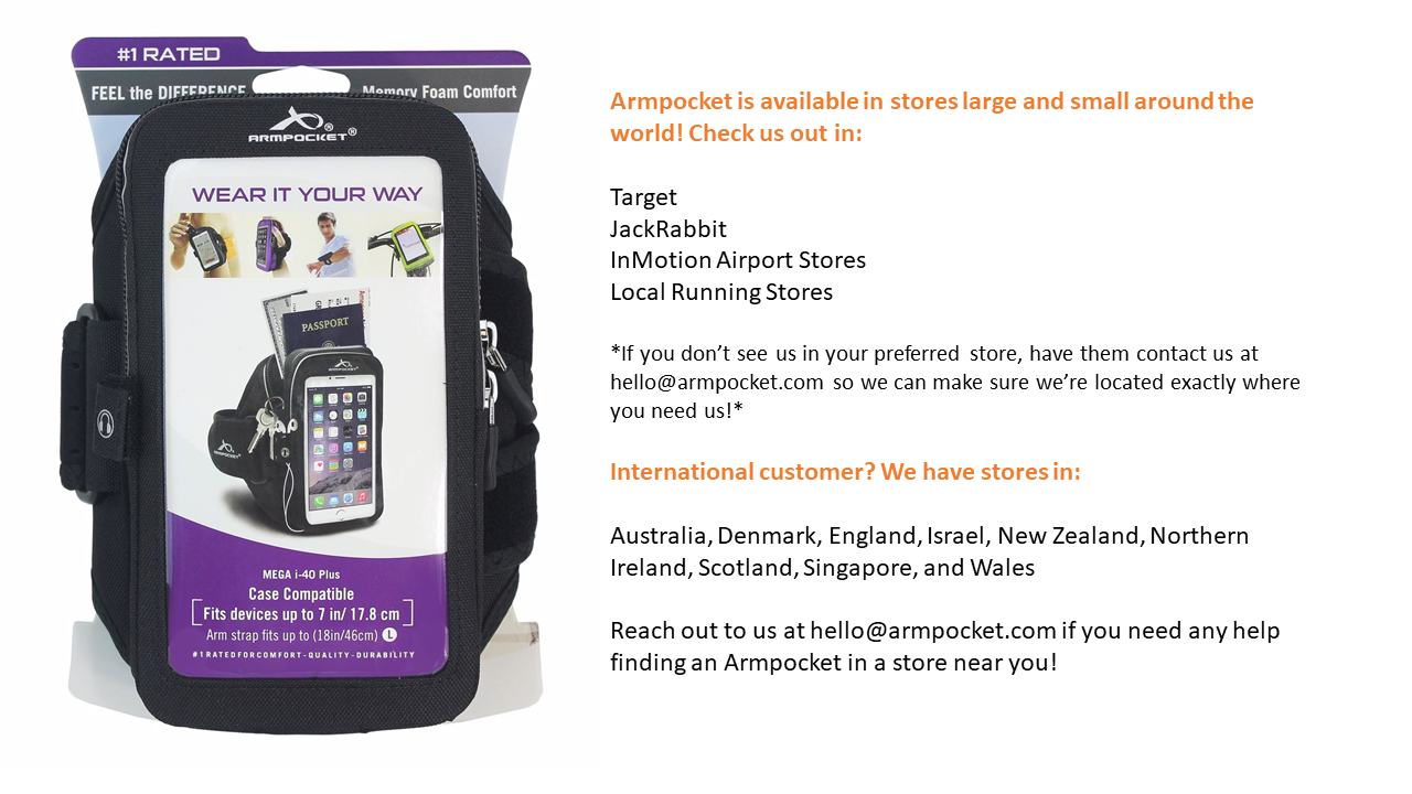 Find an Armpocket Near You - Local Retailers