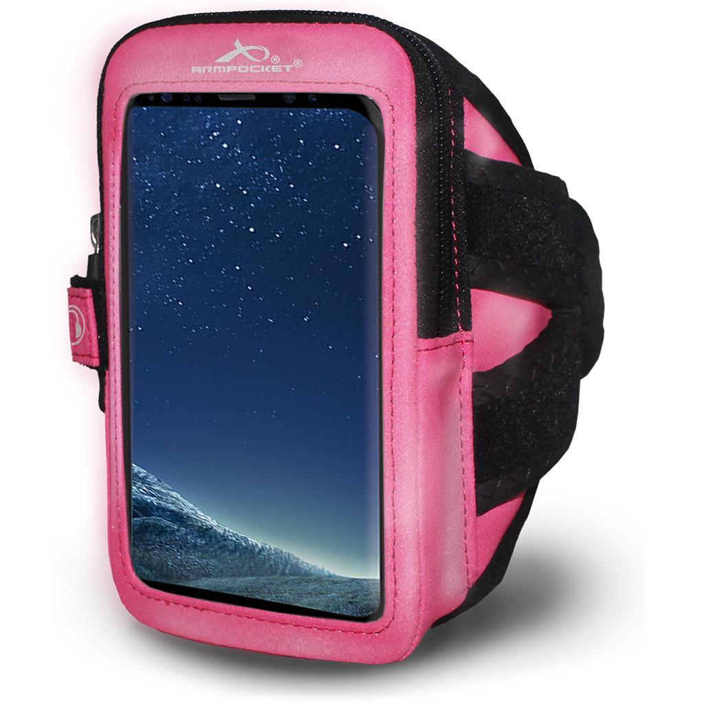 Reflective Armband for Microsoft Lumia 650 Pink