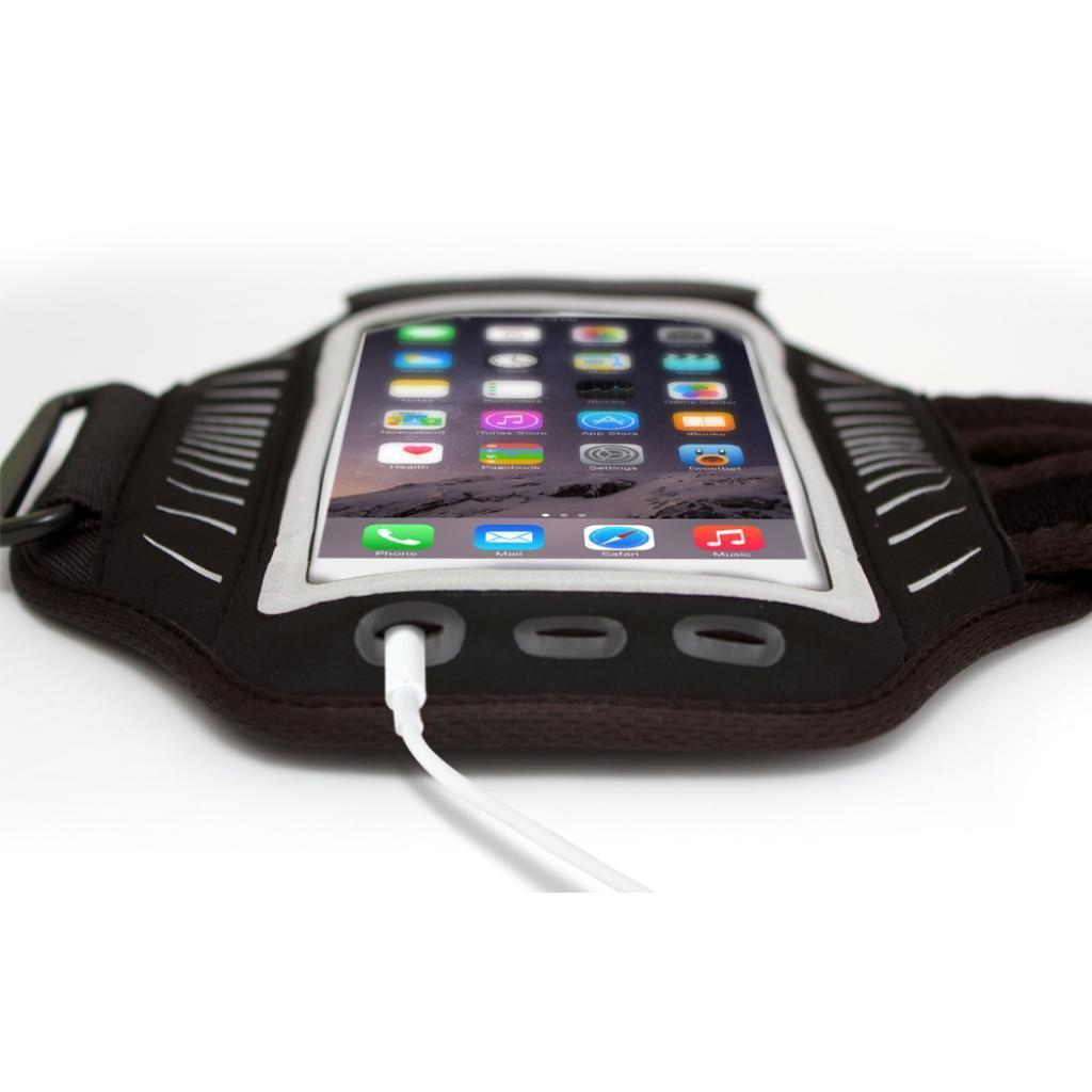 Racer, slim-fit armband for iPhone SE Port View