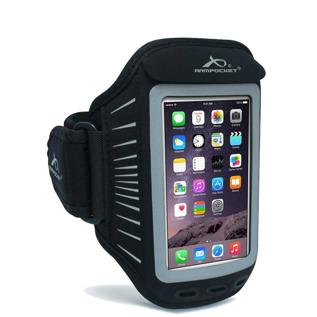 Racer slim armband for iPhone 5/5s/5c/SE Silver