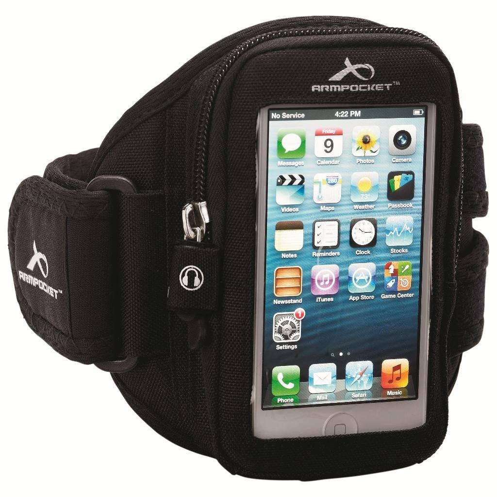Aero i-10 armband for iPhone 5/5s/SE with slim cases Black