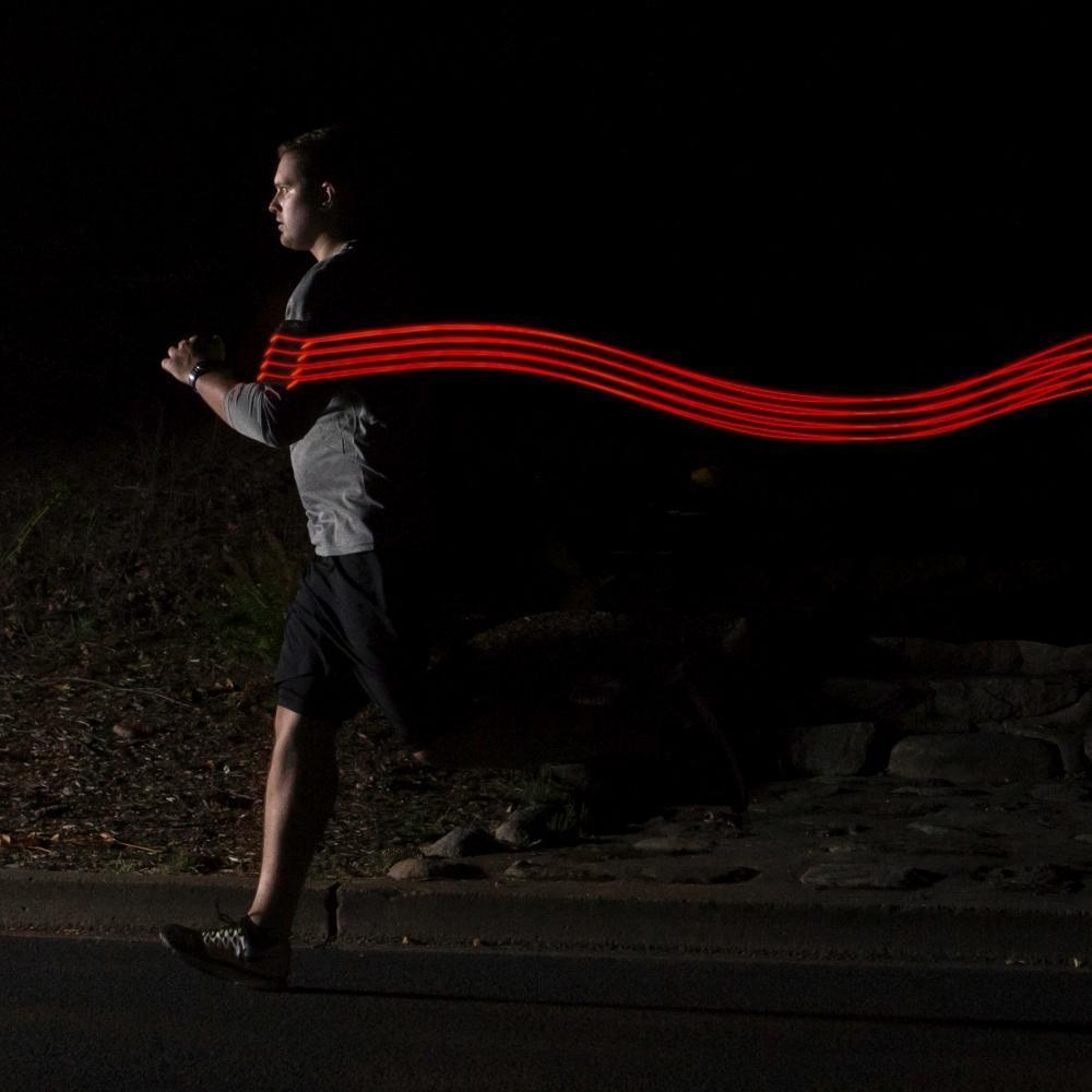 iPhone running band with lights