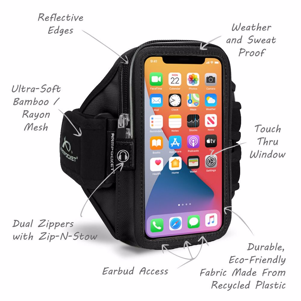 Mega i-40 Running Phone Armband for Phones and Cases up to 6.5 Inches - Arctic Berry