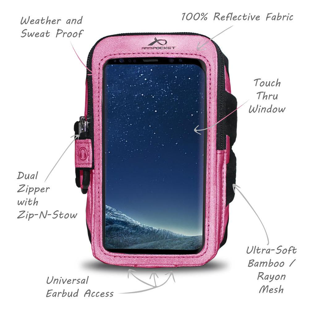 Ultra i-35 for Phones and Cases up to 6.0 Inches - 100% Reflective Pink