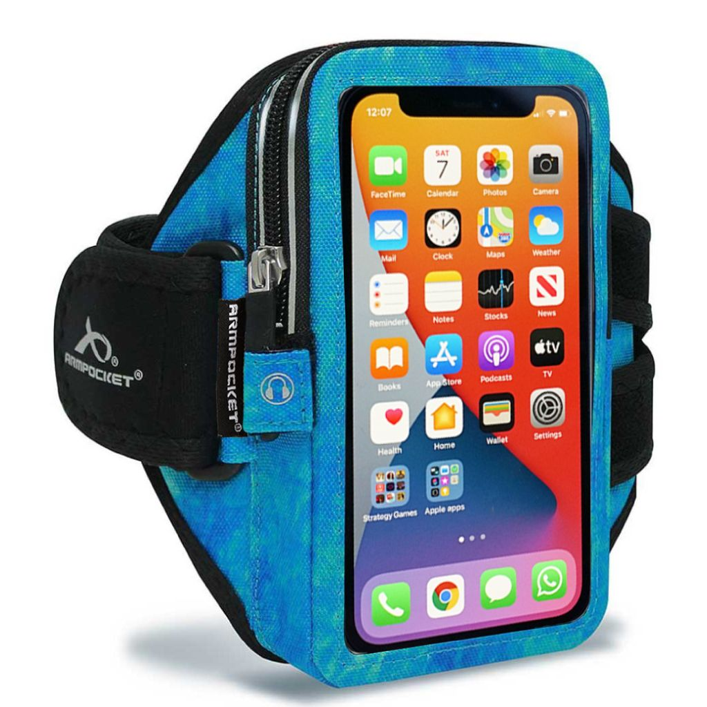 Mega i-40 Workout Armband For iPhone XR – Arctic Blue