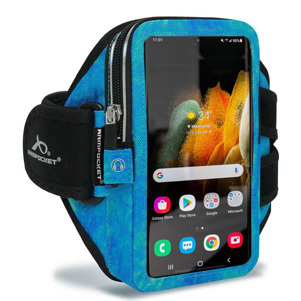Armpocket Elite, Mega i-40 armband for Galaxy S21 Arctic Blue