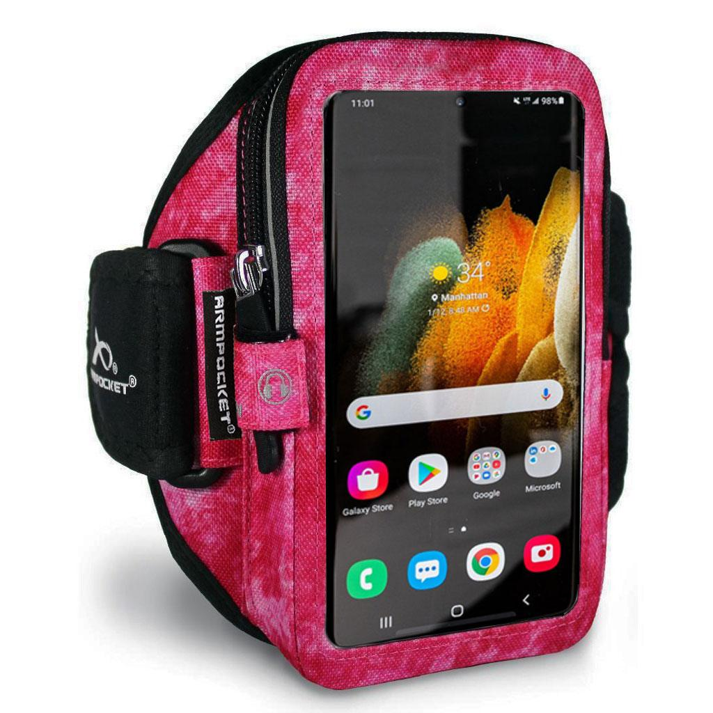 Armpocket Elite, Mega i-40 armband for Galaxy S21 Arctic Berry