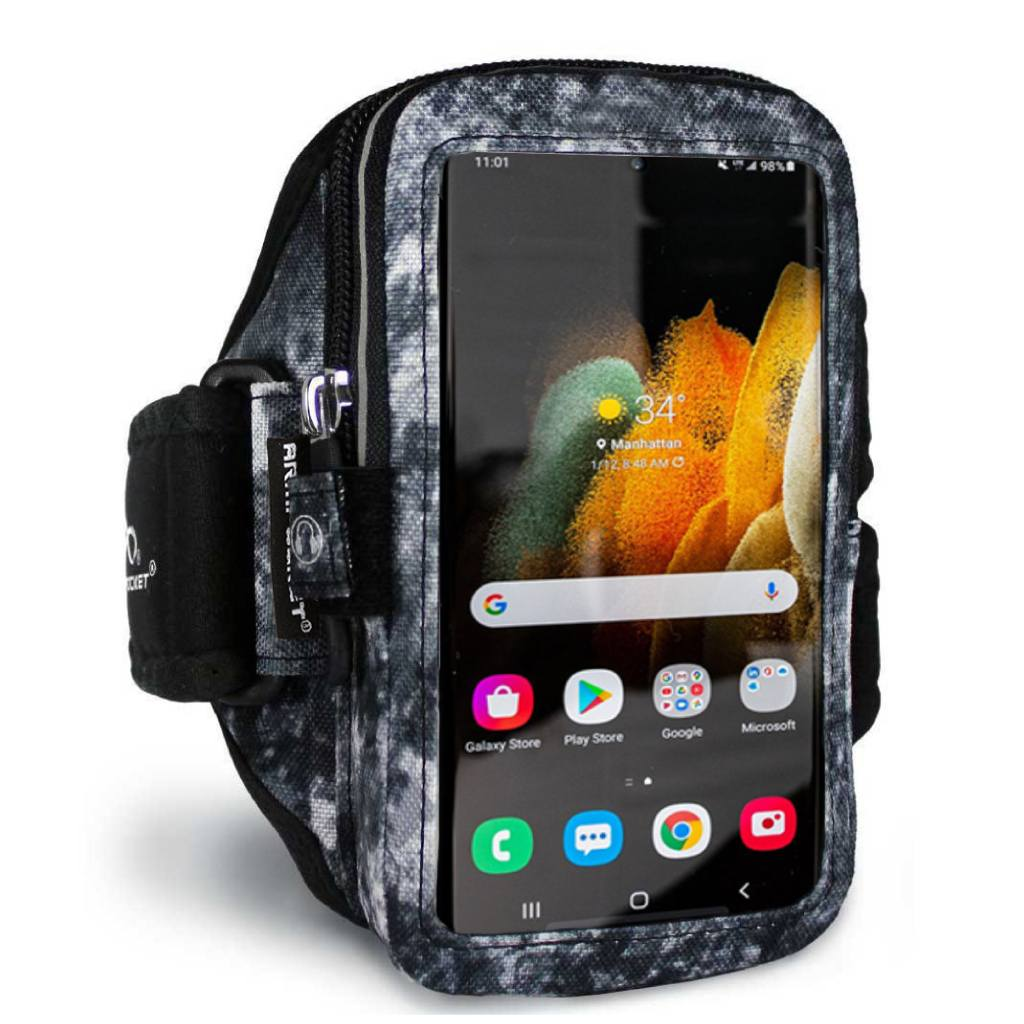 Armpocket Elite, Mega i-40 armband for Galaxy S21 Arctic Storm