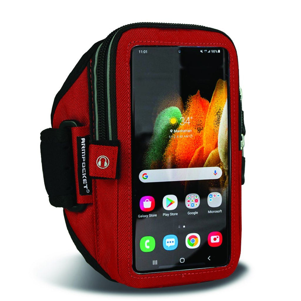 Armpocket Elite, Mega i-40 armband for Galaxy S21 Red