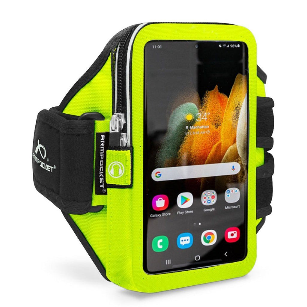 Armpocket Elite, Mega i-40 armband for Galaxy S21 Yellow