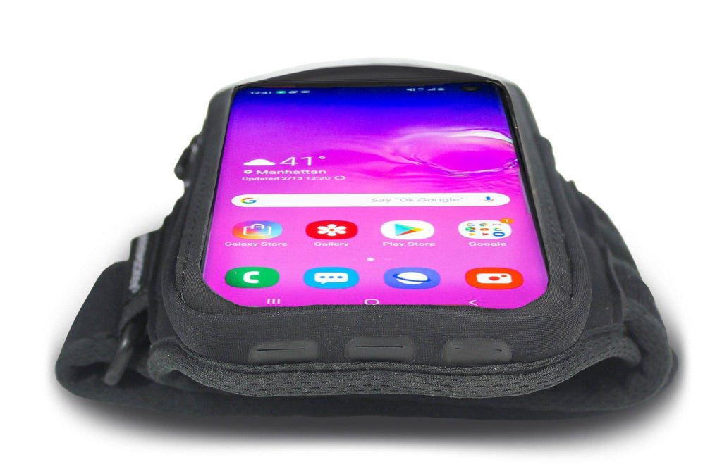 Armpocket X Plus armband for Galaxy S20 Ultra and  full screen devices Port View