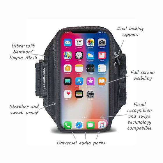 Armpocket X armband for iPhone X/Xs, S10/S9/S8 & full screen devices