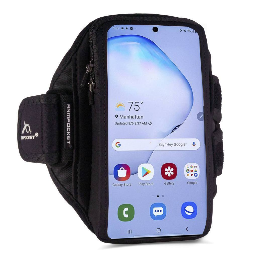Armpocket X Plus armband for Galaxy S21 Ultra and full screen devices Side View