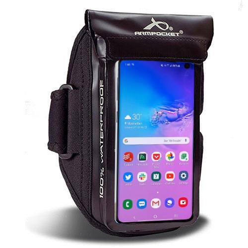 100% Waterproof armband for Galaxy A3, ID, and keys Black