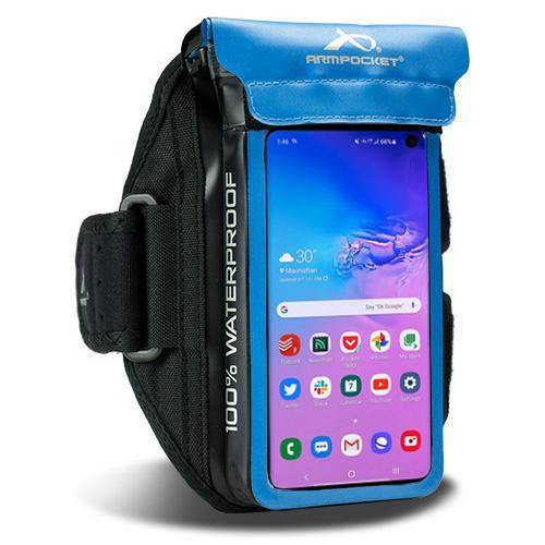 100% Waterproof armband for Galaxy A3, ID, and keys Blue