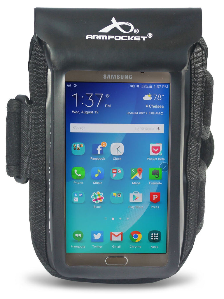 100% Waterproof armband for Google Pixel 4 Front View