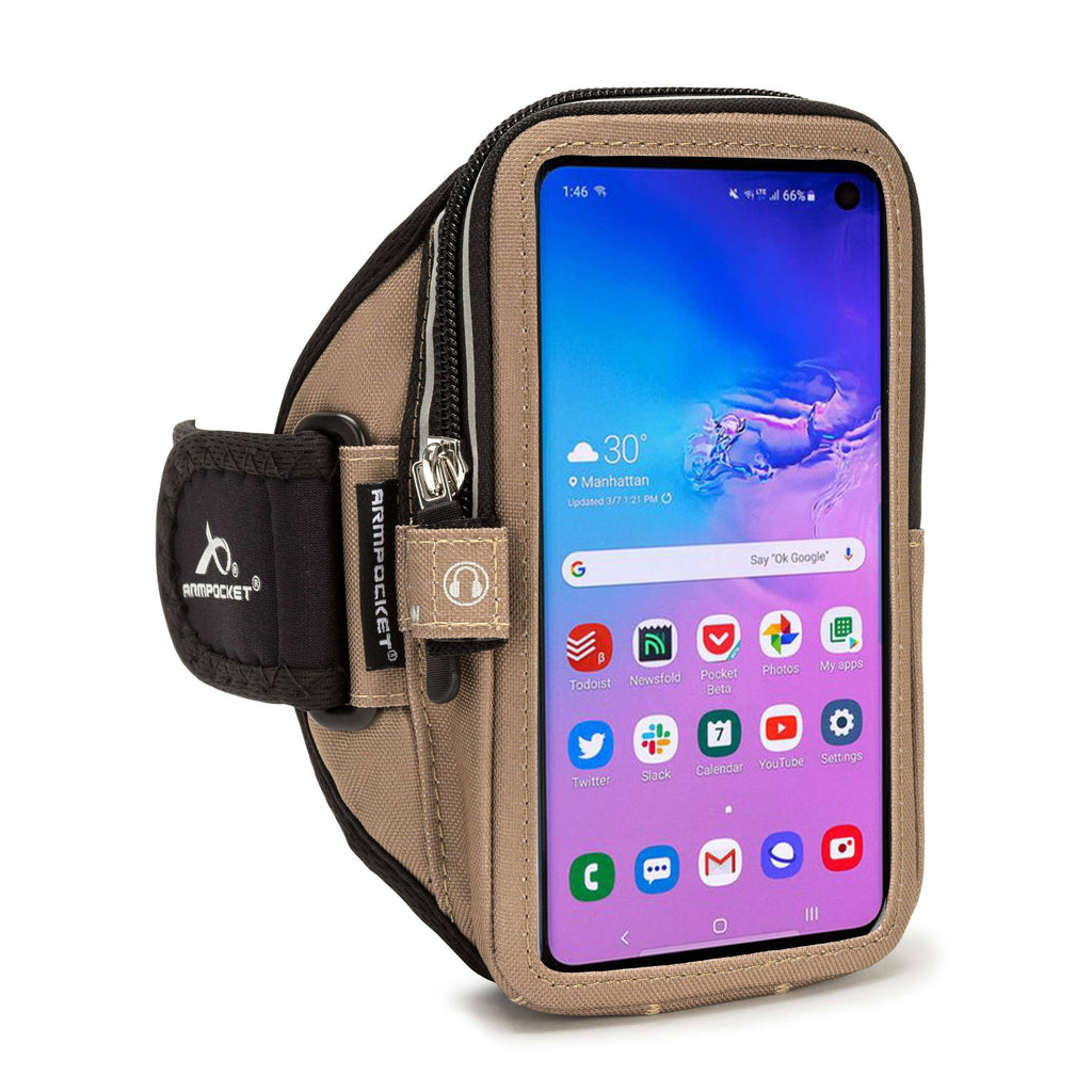 Armpocket Elite, Mega i-40 armband for Galaxy S10 Coyote