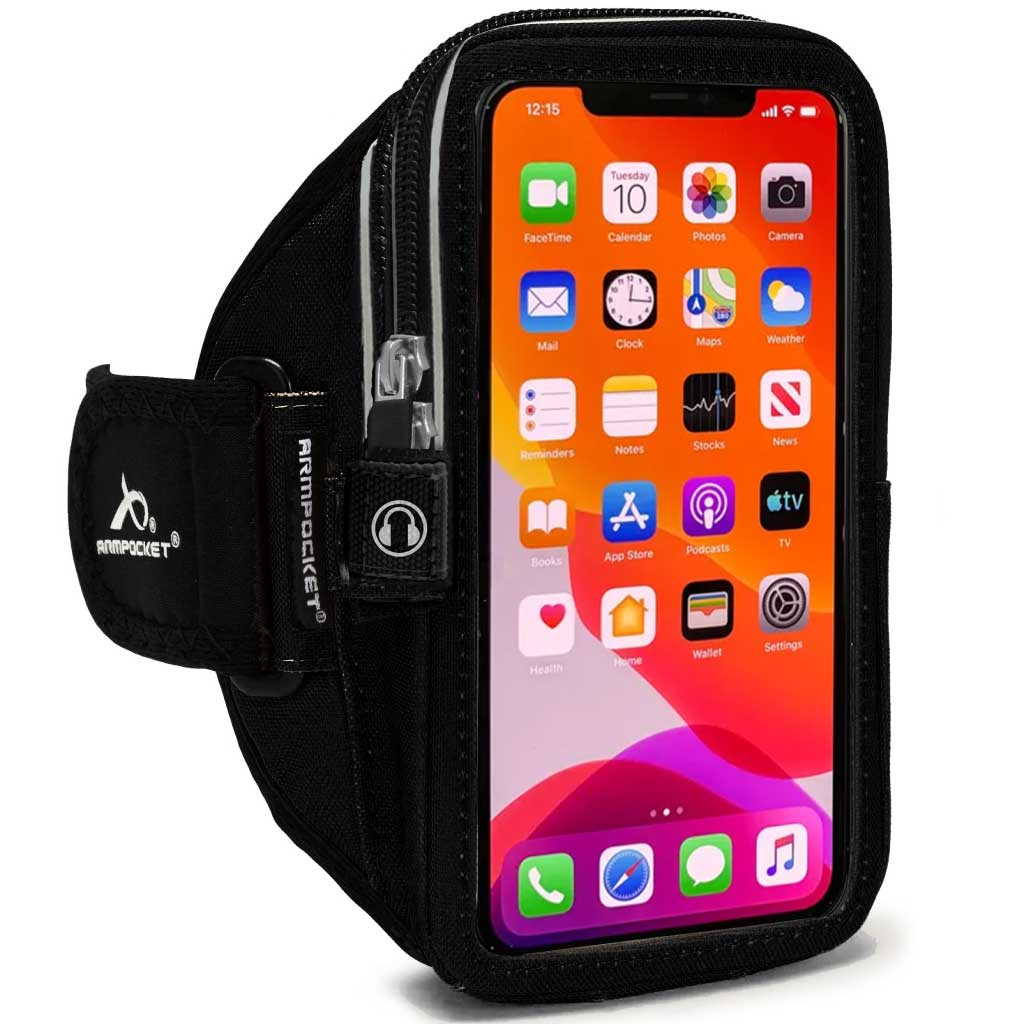 Mega i-40 Plus Smartphone Armband for iPhone 11 Pro Max/XS Max, iPhone 8/7/6 Plus, Galaxy S20 Ultra/Note 20 Ultra & more with large cases