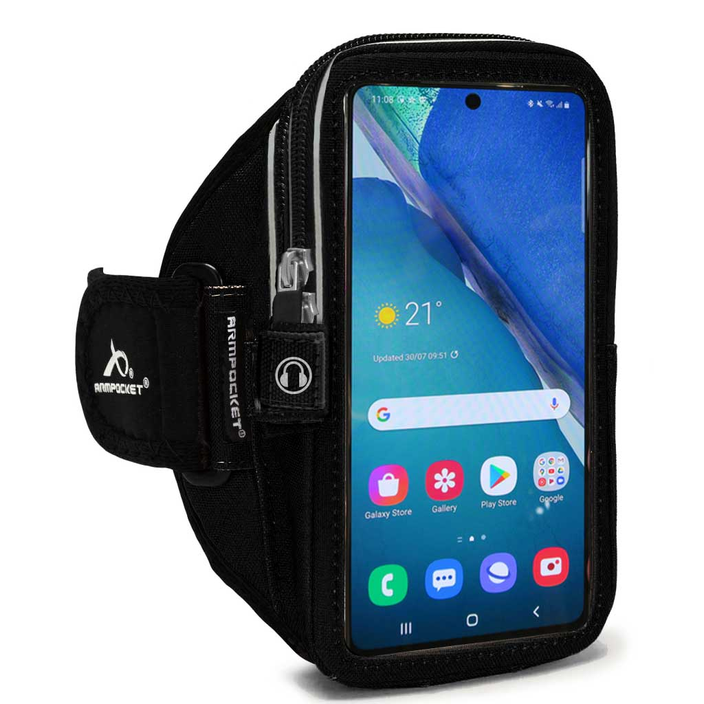Armpocket Elite, Mega i-40 armband for Galaxy S20 Black