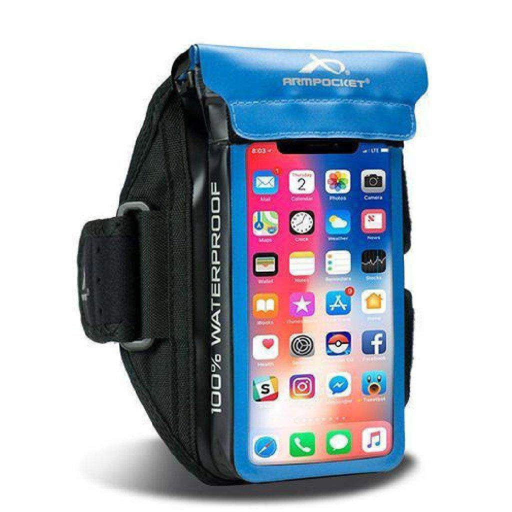 100% Waterproof Armband for iPhone 8/7, Galaxy S7/S6 & more - Aqua Blue