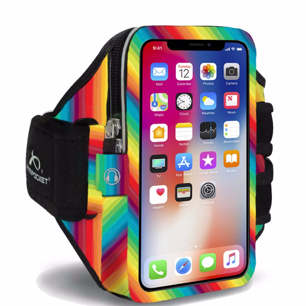 Armband for iPhone 8/7/6, Galaxy S7/S6, Google Pixel & more - Ultra i-35 Limited Edition Rainbows for Heroes