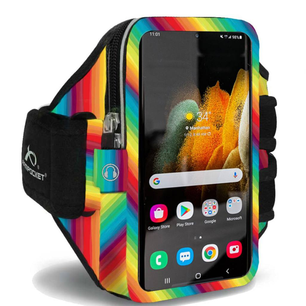 Armpocket Elite, Mega i-40 armband for Galaxy S21 Limited Edition Rainbows for Heroes