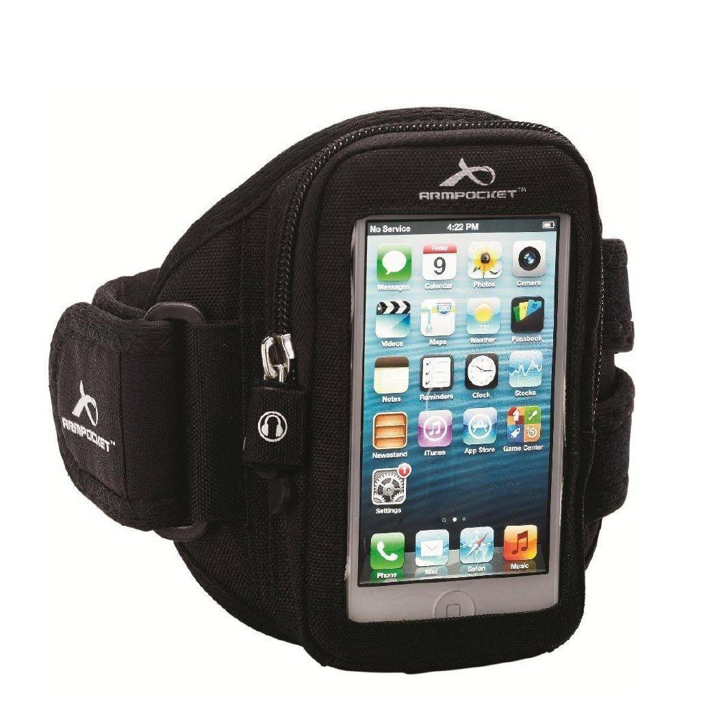Armpocket Aero i-10 running armband for iPhone 5, iPods Black