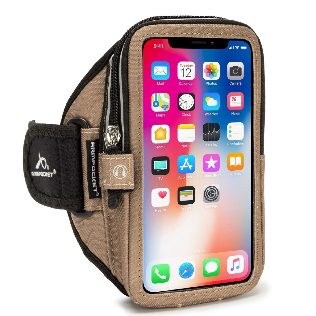 Armpocket Mega i-40  for iPhone SE Coyote Brown