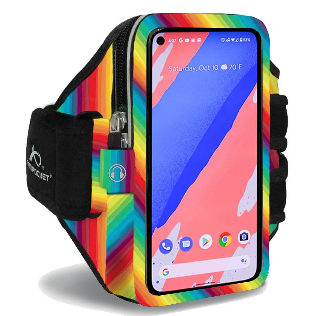 Armpocket Elite, Mega i-40 armband for Google Pixel 4 Limited Edition Rainbows for Heroes