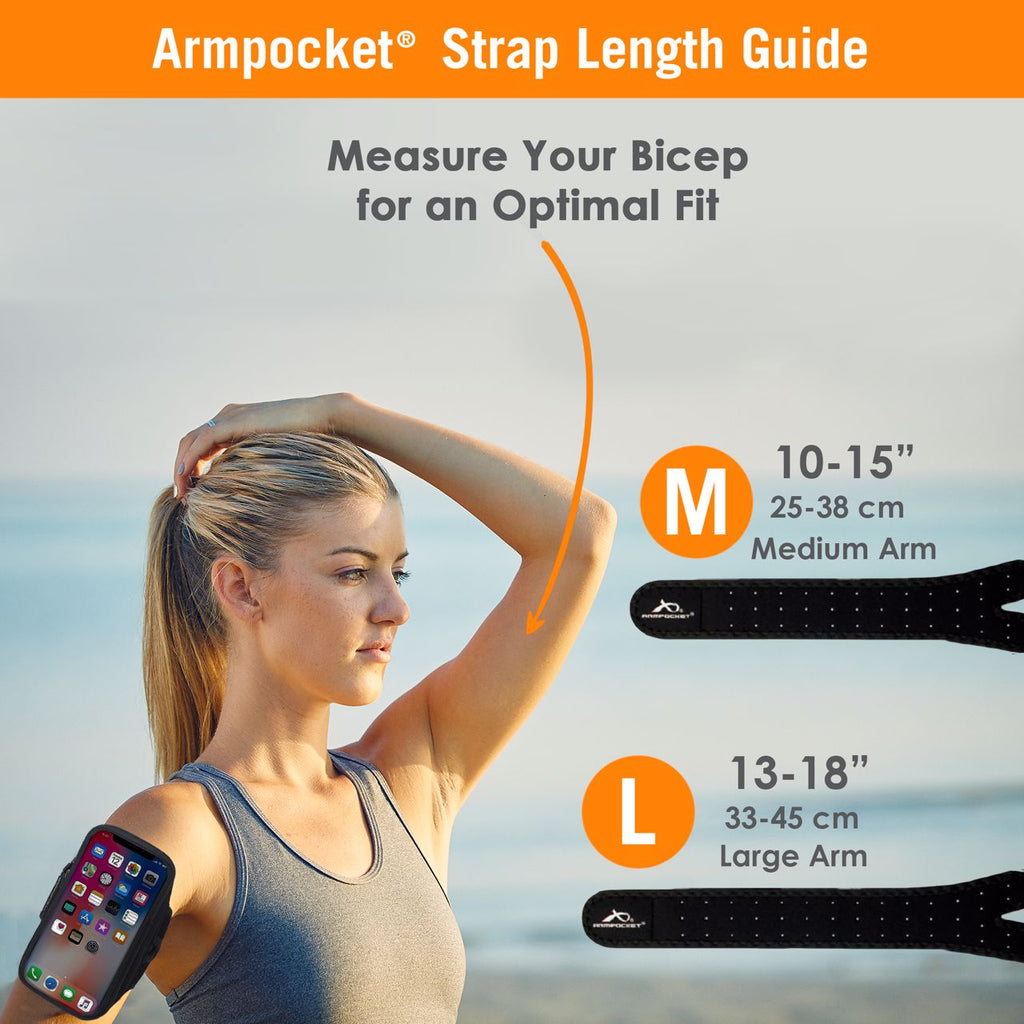 Armpocket X Plus Strap Length Size Chart