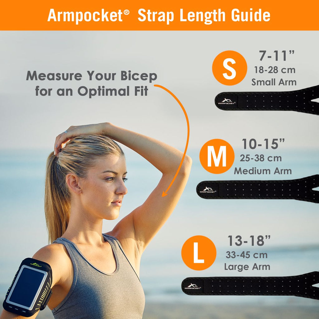 Racer Running Armband Strap Length Size Chart