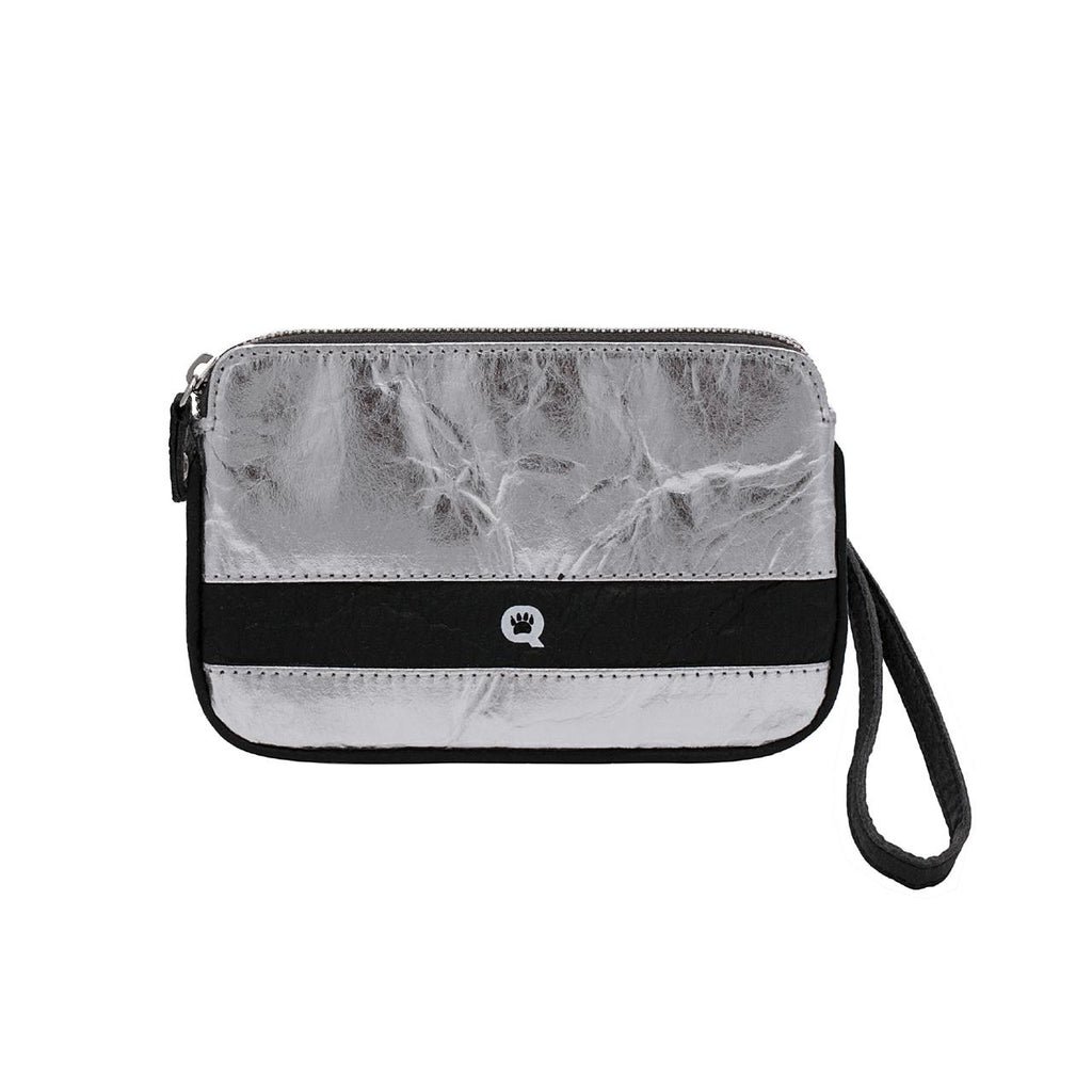 Quokka Vegan Convertible Bag - Urban Chic Silver and Black