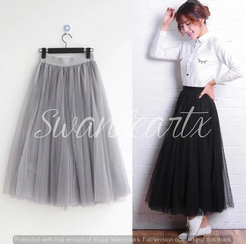 Poufy Layered Tulle Skirt