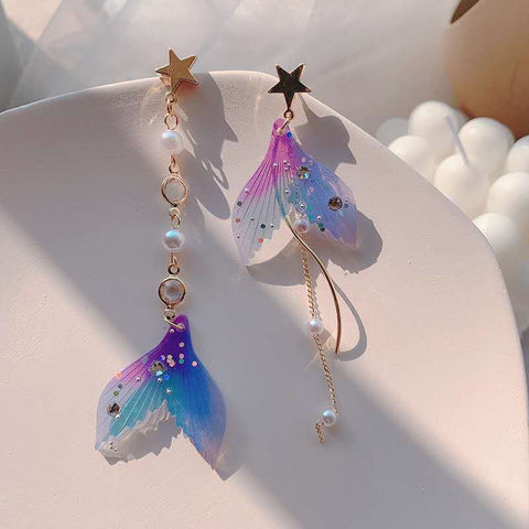 Mermaid Romance Dangling Earrings