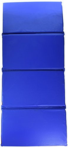 "Peerless Plastics KM100 Basic Rest Mat, 4-Section, 45"" x 19"" x 5/8"" Size, Vinyl, Red/Blue"