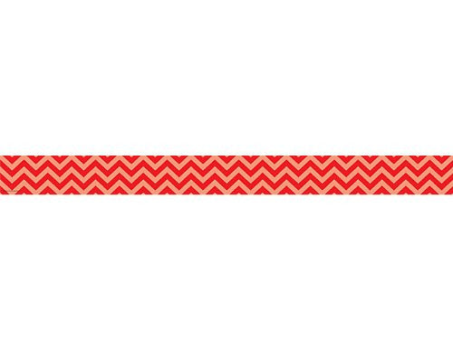 Teacher Created Resources Red Chevron Straight Border Trim