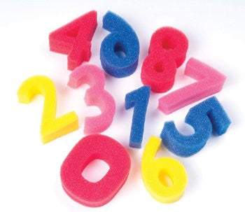 Sponge Numbers, 3 High, 0-9 Numbers, 10 Sponges/pack