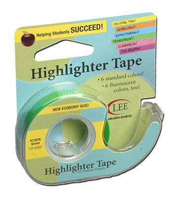 Removable Highlighter Tape; Green - 1 Roll Only; no. LEE13976