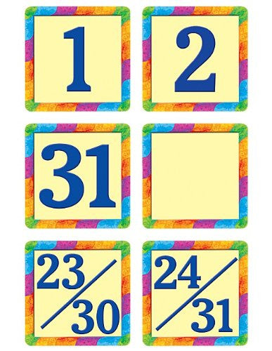 Teacher Created Resources Rainbow Calendar Days Mini Pack , 4582