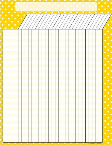 Teacher Created Resources Yellow Polka Dots Incentive Chart, Yellow (7659)