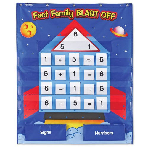 Learning Resources Fact Family Blast Off Pocket Chart